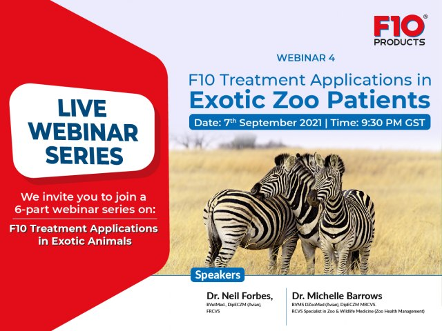 F10 Treatment Applications in Exotic Zoo Patients - Webinar