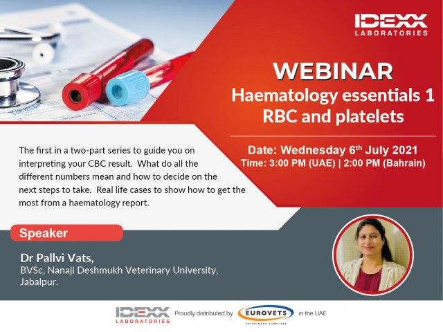 Haematology essentials 1- RBC and platelets (Webinar)
