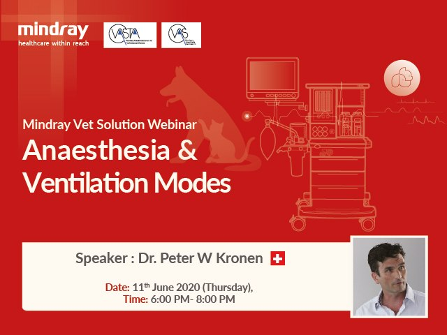 Mindray Vet Solution Webinar - Anaesthesia & Ventilation Modes