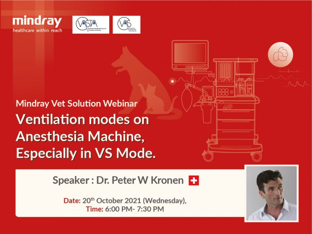 Mindray Vet Solution Webinar - Ventilation modes on Anesthesia Machine - Especially in VS Mode.
