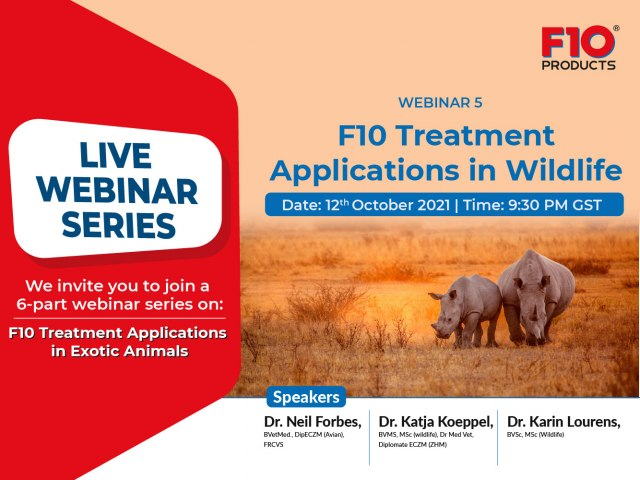 F10 Treatment Applications in Wildlife - Webinar