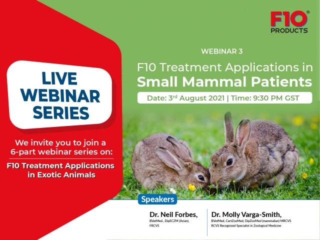 F10 Treatment Applications in Small Mammal Patients - Webinar