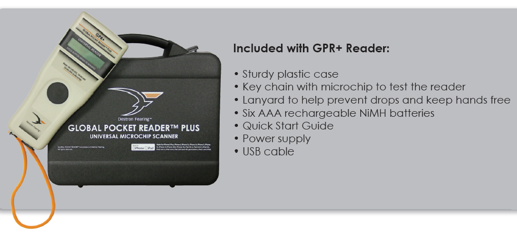 Destron Fearing Global Pocket Reader Plus Universal Microchip Scanner 30005-0A1